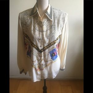 Tops - Silk long sleeve  timeless top size 10